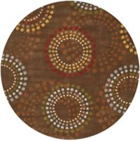 Surya Forum Bloom 9'9 Round Area Rug in Brown/Red