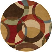 Surya Forum Modern Circles 4' Round Multicolor Area Rug