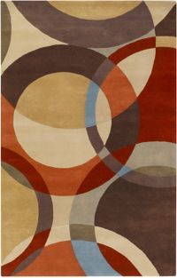 Surya Forum Modern Circles 6' x 9' Multicolor Area Rug