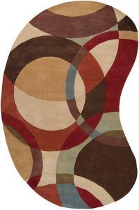 Surya Forum Modern Kidney-Shaped 6' x 9' Multicolor Area Rug