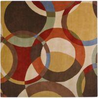 Surya Forum Modern Circles 6' Square Multicolor Area Rug