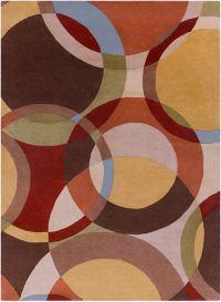 Surya Forum Modern Circles 8' x 11' Multicolor Area Rug