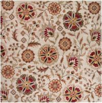 Surya Athena Floral Botanical 7'6 x 9'6 Hand Tufted Area Rug in Camel