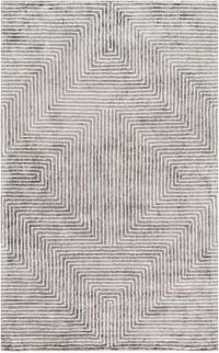 Surya Quartz Geometric 3' x 5' Area Rug in Grey