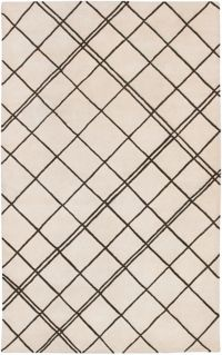 Surya Studio Geometric 2' x 3' Handcrafted Accent Rug in Neutral/Brown
