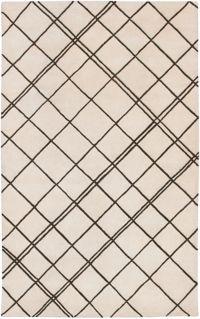 Surya Studio Geometric 5' x 8' Handcrafted Area Rug in Neutral/Brown