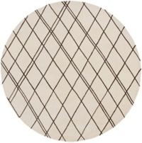 Surya Studio Geometric 8' Round Handcrafted Area Rug in Neutral/Brown
