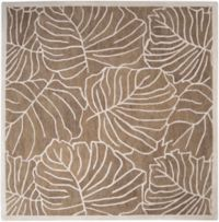 Surya Studio 8' Square Hand-Tufted Area Rug in Brown/Neutral