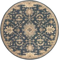 Surya Caesar 6' Handcrafted Square Area Rug in Blue/Brown