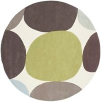 Surya Cosmopolitan Modern 8' Round Handcrafted Area Rug in Green