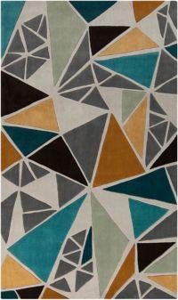 Surya Cosmopolitan Multicolor 3'6 x 5'6 Area Rug