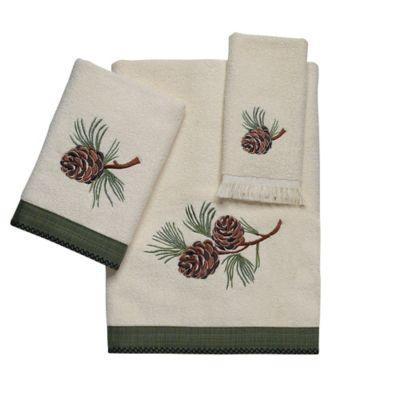 Avanti Pine Creek Bath Towel In Ivory