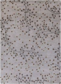 Surya Athena Floral 8' x 11' Hand Tufted Area Rug in Grey/Brown