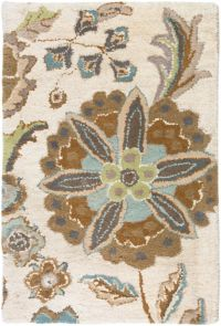 Surya Athena Floral Botanical 2' x 3' Hand Tufted Accent Rug in Blue