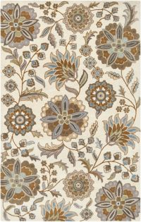 Surya Athena Floral Botanical 4' x 6' Hand Tufted Area Rug in Blue