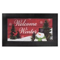 "Welcome Winter 18"" x 30"" Multicolor LED Door Mat"