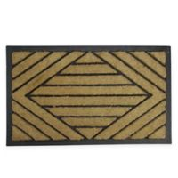 "Northlight Diamond 17.5"" x 29.5"" Door Mat in Black"