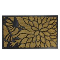 "Northlight Hummingbird 17.75"" x 29.75"" Door Mat in Black"