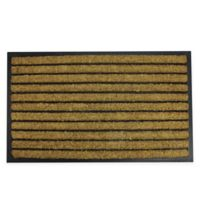 "Northlight Striped 17.75"" x 29.5"" Door Mat in Black"