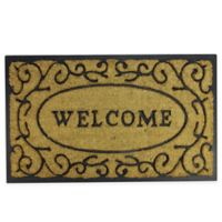 "Northlight Vine Welcome 18"" x 29.5"" Door Mat in Black"