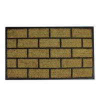 "Northlight Brick 19.5"" x 35.5"" Door Mat in Black"