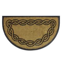 "Northlight Swirl Knotwork Half-Round 17.75"" x 29.75"" Door Mat in Black"