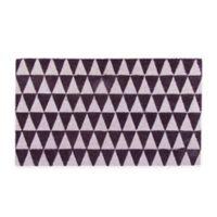"""Northlight Triangles 17.75"""" x 29.5"""" Coir Door Mat in Black/Pink"""