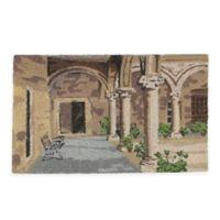 """Northlight Colonnade 17.75"""" x 29.5"""" Coir Door Mat in Brown"""