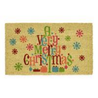 """Mohawk Home® Very Merry Christmas 18"""" x 30"""" Coir Door Mat"""