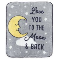 Hudson Baby® High Pile Moon Blanket in Grey