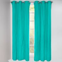 Crayola® Solid 84-Inch Grommet Blackout Window Curtain Panel in Blue/Green