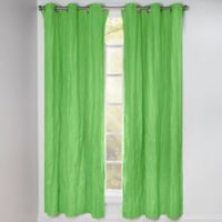 Crayola® Solid 84-Inch Grommet Blackout Window Curtain Panel in Jungle Green