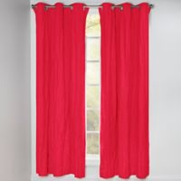 Crayola® Solid 84-Inch Grommet Blackout Window Curtain Panel in Scarlet