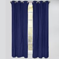 Crayola® Solid 84-Inch Grommet Blackout Window Curtain Panel in Navy Blue