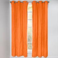 Crayola® Solid 84-Inch Grommet Blackout Window Curtain Panel in Orange