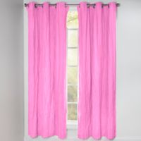 Crayola® Solid 84-Inch Grommet Blackout Window Curtain Panel in Pink Flamingo