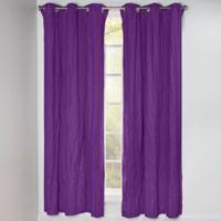 Crayola® Solid 84-Inch Grommet Blackout Window Curtain Panel in Purple