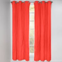 Crayola® Solid 84-Inch Grommet Blackout Window Curtain Panel in Sunset Orange