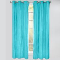 Crayola® Solid 84-Inch Grommet Blackout Window Curtain Panel in Turquoise Blue