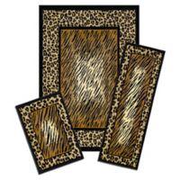 Achim Capri 3-Piece Rug Set in Leopard Skin