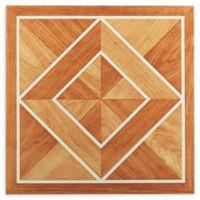 Achim Tivoli 45-Pack 12-Inch Inlaid Parquet Floor Tiles in Orange