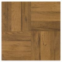 Achim Tivoli 45-Pack 12-Inch Three Finger Parquet Floor Tiles in Oak