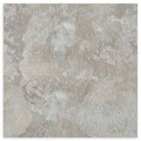 Achim Majestic 10-Pack 18-Inch Self-Stick Marble Floor Tiles in Light Grey Slate