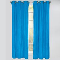 Crayola® Solid 84-Inch Grommet Blackout Window Curtain Panel in Cerulean