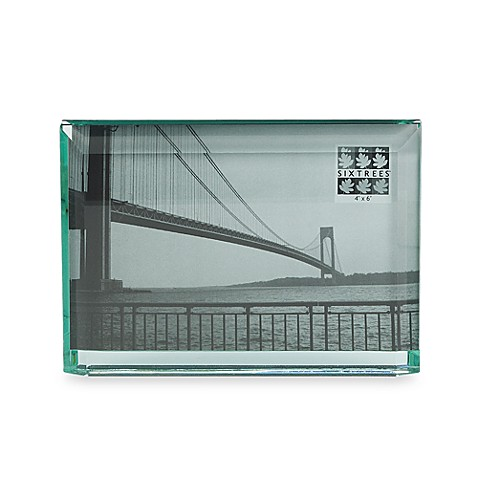 Sixtrees Emerald Cut Thick Glass 4 X 6 Picture Frame Horizontal