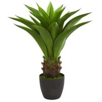 Nearly Natural 30-Inch Agave with Planter