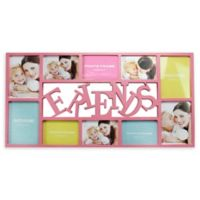 Northlight 28.75-Inch Dual-Sized 'Friends' Picture Collage Frame in Pink