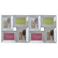 Northlight 27.5-Inch Dual-Sized Glass Collage Frame in White