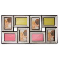 Northlight 27.5-Inch Dual-Sized Glass Collage Frame in Black