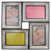 Northlight 13.75-Inch Dual-Sized Glass Collage Frame in Black